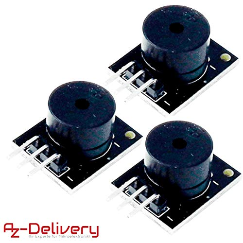 AZDelivery ⭐⭐⭐⭐⭐ 3 x KY-006 Passives Piezo Buzzer Alarm Modul für Arduino Alarm-piezo-summer