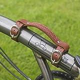 London Craftwork Leder Mini Tragegriff für Brompton Handgriff Bike Fahrrad Rahmen Tragetasche Hellbraun