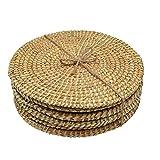 Argon Tableware, Tovagliette, in Giacinto d'Acqua Intrecciato, 3 Design Disponibili: Foglia di Palma - Set da 6