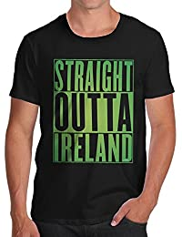 TWISTED ENVY Straight Outta Ireland Green Men's Printed Cotton T-Shirt