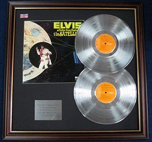 s Presley Doppel-LP-Platinscheibe mit Abdeckung, Aloha von Hawaii Via Satellite ()
