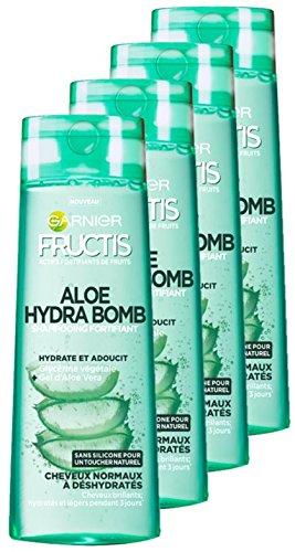 Garnier Fructis Aloe Hydra Bomb Shampoo für trockenes Haar, 1 l, 4 Stück - Haar-gel Garnier
