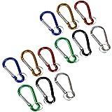 COM-FOUR® Karabiner Set Mini Karabinerhaken mit Schlüsselring in 6 verschiedenen