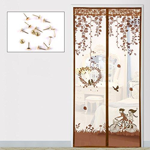 Sommer Fliegengitter für Türen, anti - moskito - vorhänge im schlafzimmer badezimmer - vorhang - Wetter - Fenster-D-90x210cm(35x83inch)