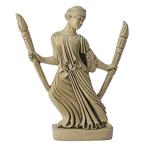 Hekate mit Fackeln Statue -