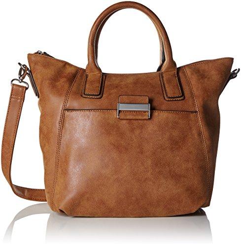 GERRY WEBER Damen Be Different Handbag MHz Baguettes, Braun (703), 37x26x11 cm