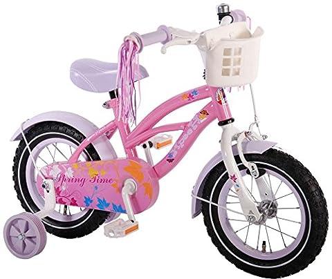 12 Zoll Kinderfahrrad mit Stützräder Mädchen Fahrrad Kinder Rad Pink Rosa 51204