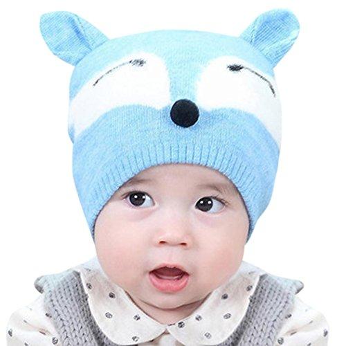 URSING Baby Jungs Mädchen Mütze Kappe Bequeme Baumwolle Buchstabe gedruckt Gestrickt Ball Warm Hüte süße Mütze Baskenmütze Wintermütze Strick Mütze für Fotoshooting (Junge Minion Kostüme Kleiner)