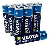 Varta 4906301112 Longlife Power (High Energy) Batteria Alcalina, Stilo AA  LR6, Confezione da 12 Pile - Il design può variare, Confezione risparmio