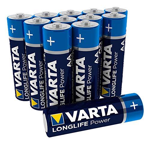 VARTA Longlife Power AA Mignon LR06 Batterie, Alkaline Batterie, ideal für Spielzeug Taschenlampe Controller und andere batteriebetriebene Geräte (12er Pack) -