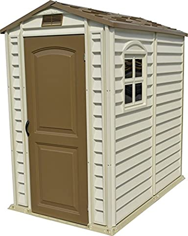 Duramax 4 x 6ft Premier Series Vinyl Storage Sheds with Plastic Floor and Fixed Window