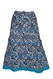 Indiatrendzs Women's Maxi Skirt Blue Pai...
