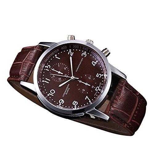 Uhren Unisex Uhrenarmband Leder Armbanduhr Edelstahl Zifferblatt Quarz-Armbanduhr Luxus Armband Exquisit Uhr Klassisch Uhr,ABsoar