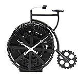 KOONNG Uhr Funk-Wanduhr Kuckucksuhr Fahrrad Tischuhr Retro Uhr Handwerk Geschenk Fahrrad Größe: 17 * 9 * 17cm @ schwarz