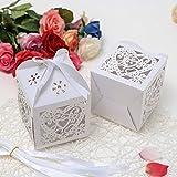 ICT 50 scatoline Bomboniere Confezione Segnaposti Porta Confetti Matrimonio Battesimo Anniversario Feste