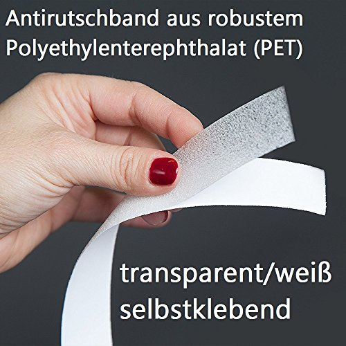 Anti Slip Tape Anti-Slip Tape 5 m x 2.5 cm Transparent for Extra Security, transparent