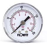 Flowfit 40mm seco/Neumático Medidor de presión 0?400PSI BARRA DE (28) 1/8