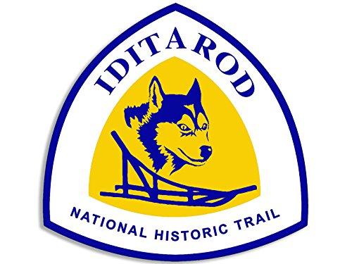Preisvergleich Produktbild Aufkleber Iditarod National Historic Trail, in Form eines Schildes, Hundeschlitten