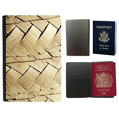 PU Pass Passetui Halter Hülle Schutz // F00024684 Gewebte Textur // Universal passport leather cover (Gewebte Textur)