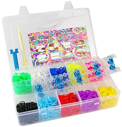 Rubber Bands BIG BOX 3000 Teile Armband Loom Set + Webrahmen