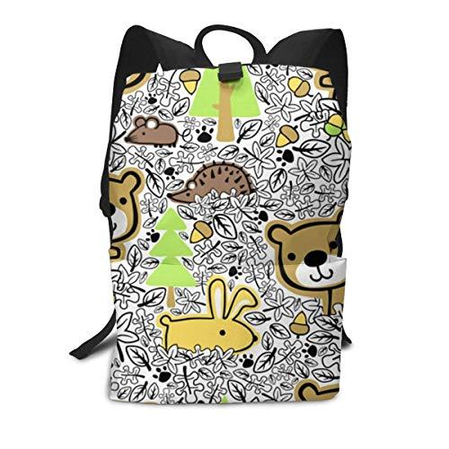 Woods Animals Backpack Middle für Kinder Jugendliche Schulreisetasche -