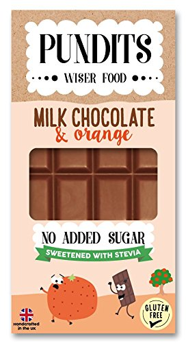 Pundits - Milk Chocolate Bar - with Natural Stevia Sweetener by Pundits | Healthy, Irresistibly Tasty | Suitable for Diabetics | Low Carb, Gluten & No Added Sugar | Sweet Delight with Zero GI for Kids & Adults
