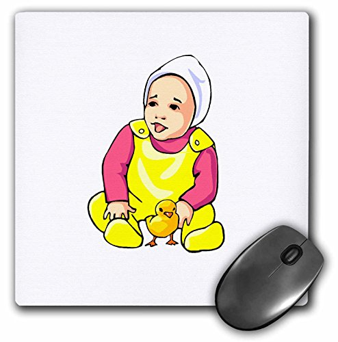 Susans Zoo Crew Holidays Easter - human baby yellow chick and outfit - MousePad (mp_178280_1)