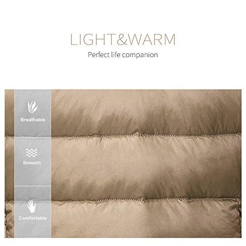 Harson&Jane Ultralight Giù Gilet delle donne con il 90% piume d'anatra bianca pieghevole Outdoor Luce Gilet Scarlatto