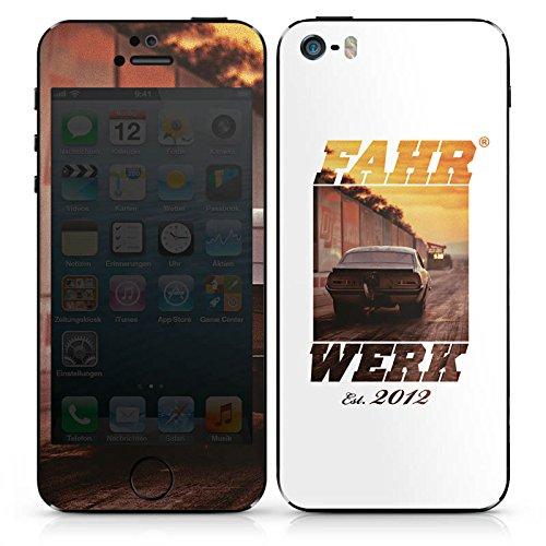 Apple iPhone SE Case Skin Sticker aus Vinyl-Folie Aufkleber Fahrwerk Fahrzeug Auto DesignSkins® glänzend