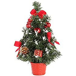 Mini sapin de Noël artificiel Arbre de Noël PVC Créatifs de Noël pour Les Créations et Décorations de Noël