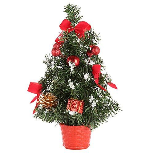 LiféUP Alberi di Natale Artificiali,Mini albero di Natale 20cm 4pcs Desktop Mini Albero di Natale Innevato,ideale per decorare camera, ufficio, scrivania e come regalo, PVC,