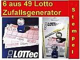 Geschenkideen LOTTEC Stempel = Lottozahlen Generator = 6 aus 49 = Zufallsgenerator = Lottoschein Lotto