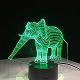 3D Nachtlicht Rgb Led Night Acryl Deer Rentier Nachtlicht Weihnachtsdekoration Lampe Projektor Party 7 Farben Lichter