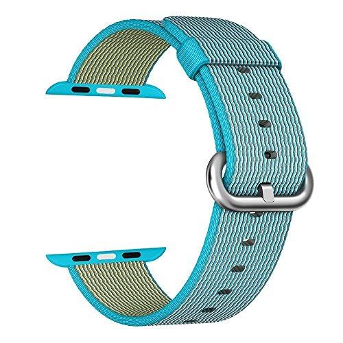 Preisvergleich Produktbild Apple Watch Armband 38mm, ZRO Premium Nylon Gewebte Smart Watch Ersatz Uhrenarmband mit verstellbarer Schnalle Für neue Apple iWatch Serie 2/ Serie 1