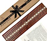 Luxus-Cribbage-Brett - Traditionelles Mahagoni - Jaques von London