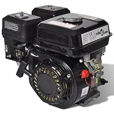 Festnight 4,8 kW Benzinmotor Ottomotor 6,5 HP 196 cc Ersatzteile Motor Austauschmotor 3600 U/min Tankinhalt 3,7 L Schwarz