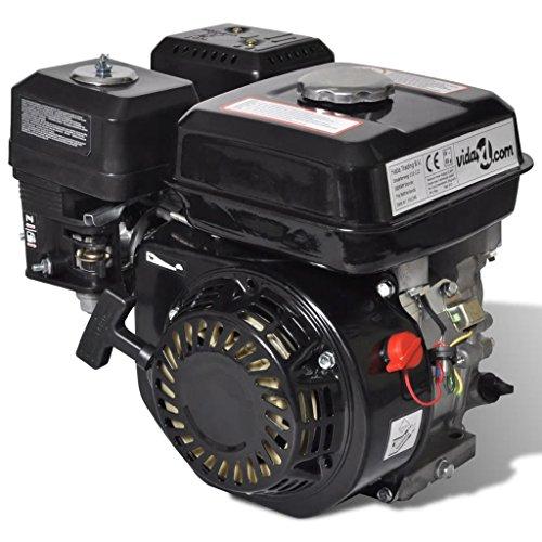UBAYMAX 6,5 CV 4,8 kW Motore a Benzina con Motorino di Avviamento Elettrico, Veicolo di Ricambio Auto Utensile con Frizione in Bagno d'olio Kartmotor, 36 x 25,3 x 32 cm,Nero