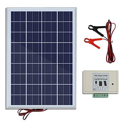 eco-worthy 10 W 20 W 30 W 50 W Solar Panel Kit für 12 V Akku Ladekabel -