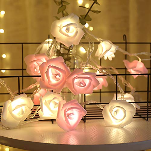 20 Rosenblüten mit LED-Beleuchtung