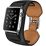 Apple Watch Band, [Bracelet Series] Apple Watch Strap Real Leather Band with Classic Buckle iWatch Band for Apple...