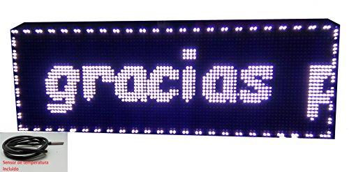Schild LED programmierbar mit Sensor Temperatur- und Text-Uhr/Programmierbar Schild/Display programmierbar/Display/Programmierbare LED Leuchtreklame/Elektronische Uhr/Wimpelkette 96x32 - Leuchtreklame Uhr