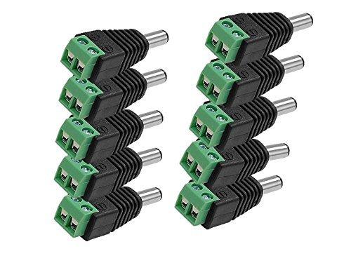 PNP Bazar Dc Connectors Screw Type (Green) For CCTV Camera,( Pack Of 10Pcs. Connectors)