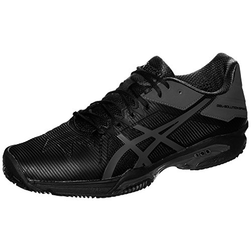 Asics Herren Gel-Solution Speed 3 Clay Tennisschuhe schwarz / grau KFMjdXJrhz