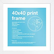 GB Eye Eton White Frame- Marco para imágenes 40x40cm, 15 mm profundidad, blanco