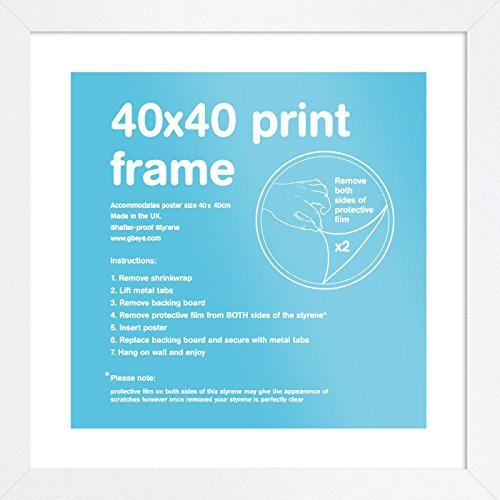 -[ GB Eye Art Print Frame, 60 x 80cm, Black  ]-