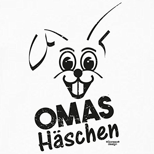 Lustige Damen Oster-Geschenke Idee / Girlie Tshirt mit Hasen Aufdruck Omas Häschen Farbe: weiss Weiß