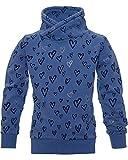 Review Kids Mädchen Sweatshirt, Pullover mit Herz und Glitzer in Jeans wash, Größe:116/122