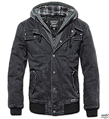 Brandit Men's Dayton Jacket Black Washed by Brandit