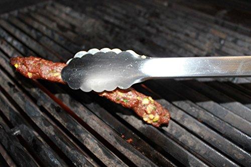 Landmann Holzkohlegrill Piccolino : Lange grillzange xxl 53 cm aus edelstahl mit holzgriff grillbesteck