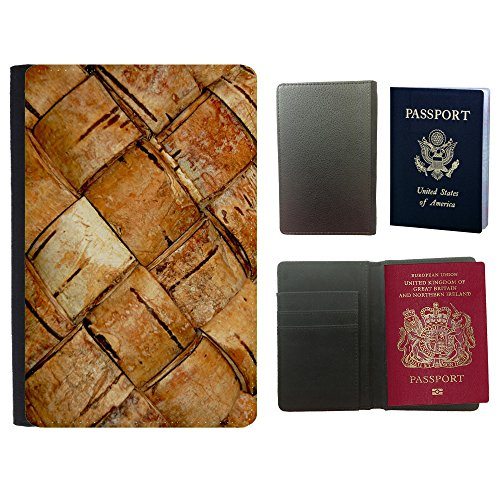 Image of Super Galaxy PU Leather Travel Passport Wallet Case Cover // M00154906 Birch Bark Texture Light Plen?¡¥nka // Universal passport leather cover